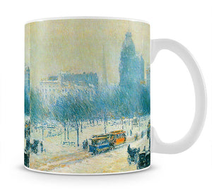 Winter in Union Square by Hassam Mug - Canvas Art Rocks - 1