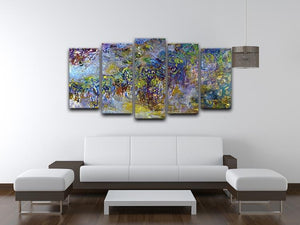 Wisteria 2 by Monet 5 Split Panel Canvas - Canvas Art Rocks - 3