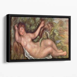 Woman Reclining by Renoir Floating Framed Canvas