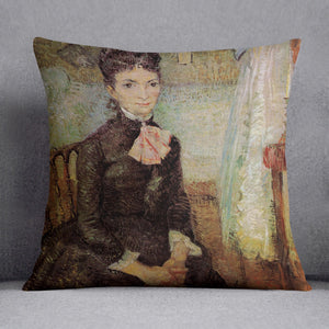 Woman Sitting by a Cradle by Van Gogh Cushion