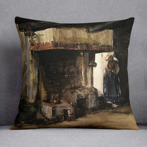 Woman by a Hearth by Van Gogh Cushion