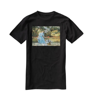 Woman in park by Hassam T-Shirt - Canvas Art Rocks - 1
