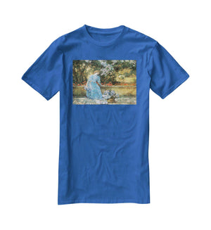 Woman in park by Hassam T-Shirt - Canvas Art Rocks - 2