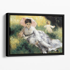Woman with Parasol by Renoir Floating Framed Canvas