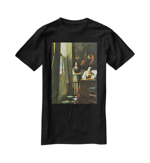 Woman with messenger by Vermeer T-Shirt - Canvas Art Rocks - 1
