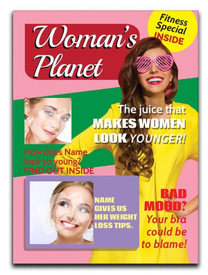 Woman's Magazine Cover Spoof Canvas Print