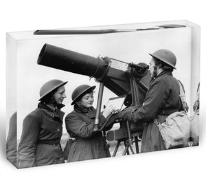 Women soldiers take aim WW2 Acrylic Block - Canvas Art Rocks - 1