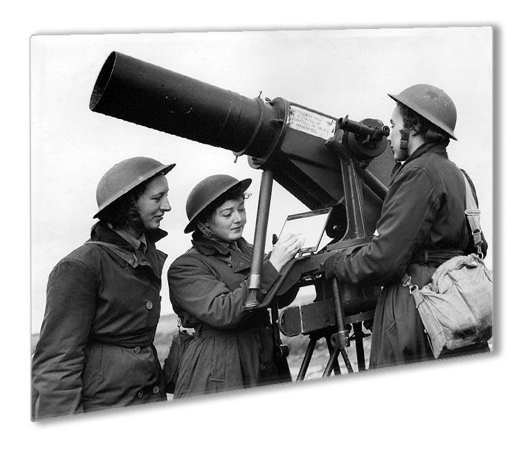 Women soldiers take aim WW2 Outdoor Metal Print - Canvas Art Rocks - 1