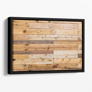 Wood texture Floating Framed Canvas - Canvas Art Rocks - 1