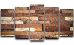 Wooden bars parquet 5 Split Panel Canvas - Canvas Art Rocks - 1