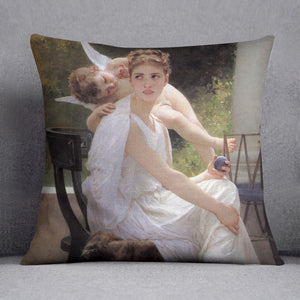 Work Interrupted By Bouguereau Cushion