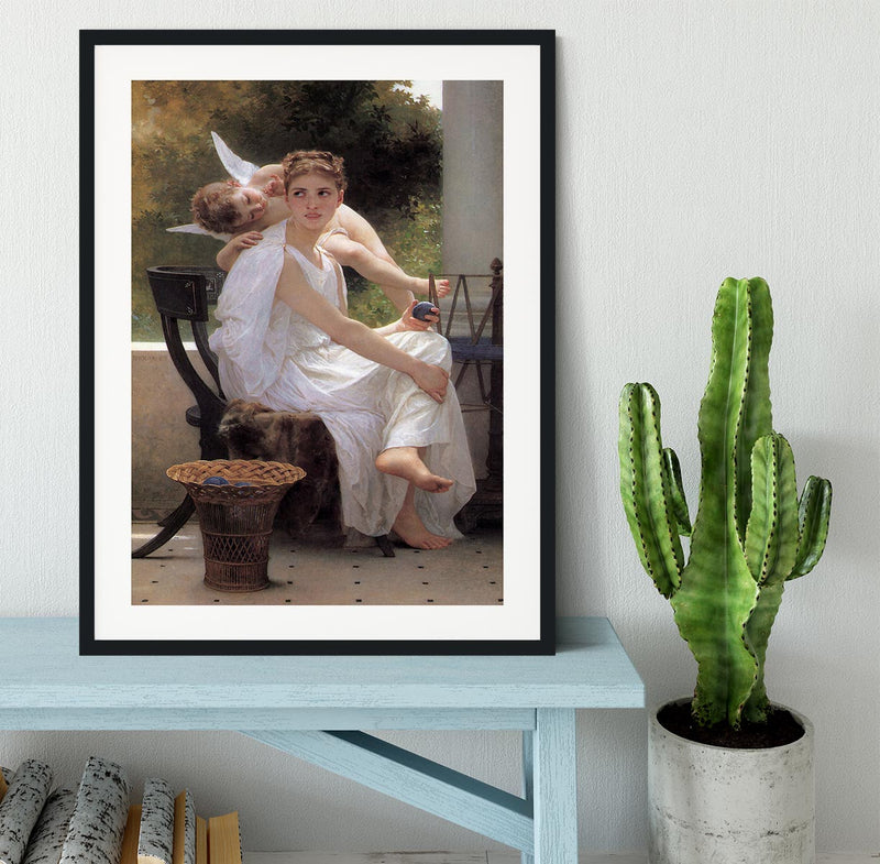 Work Interrupted By Bouguereau Framed Print - Canvas Art Rocks - 1