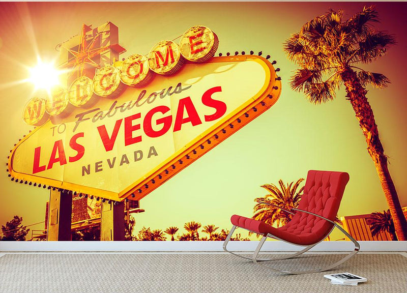 World Famous Las Vegas Nevada Vegas Strip Wall Mural Wallpaper - Canvas Art Rocks - 1