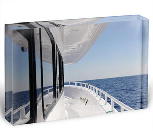 Yacht elements The deck Acrylic Block - Canvas Art Rocks - 1