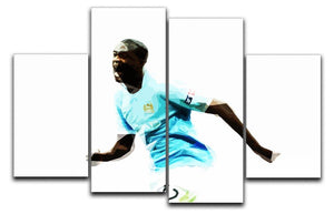 Yaya Toure 4 Split Panel Canvas  - Canvas Art Rocks - 1