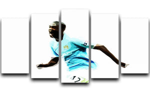 Yaya Toure 5 Split Panel Canvas  - Canvas Art Rocks - 1