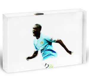 Yaya Toure Acrylic Block - Canvas Art Rocks - 1