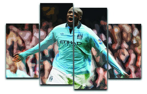 Yaya Toure Celebration 4 Split Panel Canvas  - Canvas Art Rocks - 1