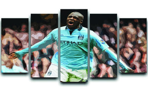 Yaya Toure Celebration 5 Split Panel Canvas  - Canvas Art Rocks - 1