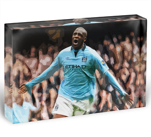 Yaya Toure Celebration Acrylic Block - Canvas Art Rocks - 1