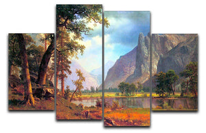 Yosemite Valley 2 by Bierstadt 4 Split Panel Canvas - Canvas Art Rocks - 1