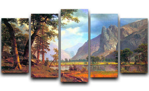 Yosemite Valley 2 by Bierstadt 5 Split Panel Canvas - Canvas Art Rocks - 1