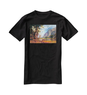 Yosemite Valley 2 by Bierstadt T-Shirt - Canvas Art Rocks - 1
