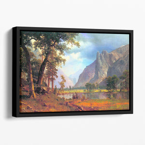 Yosemite Valley 2 by Bierstadt Floating Framed Canvas - Canvas Art Rocks - 1