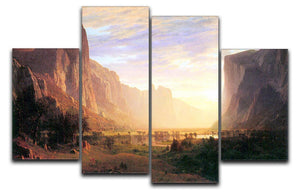 Yosemite Valley 3 by Bierstadt 4 Split Panel Canvas - Canvas Art Rocks - 1