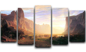 Yosemite Valley 3 by Bierstadt 5 Split Panel Canvas - Canvas Art Rocks - 1