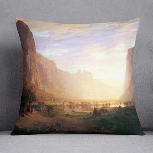 Yosemite Valley 3 by Bierstadt Cushion - Canvas Art Rocks - 1