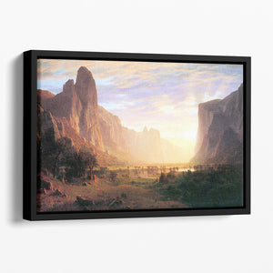Yosemite Valley 3 by Bierstadt Floating Framed Canvas - Canvas Art Rocks - 1