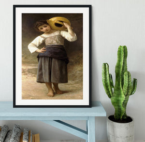 Young Girl Going to the Spring By Bouguereau Framed Print - Canvas Art Rocks - 1