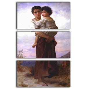 Young Gypsies By Bouguereau 3 Split Panel Canvas Print - Canvas Art Rocks - 1