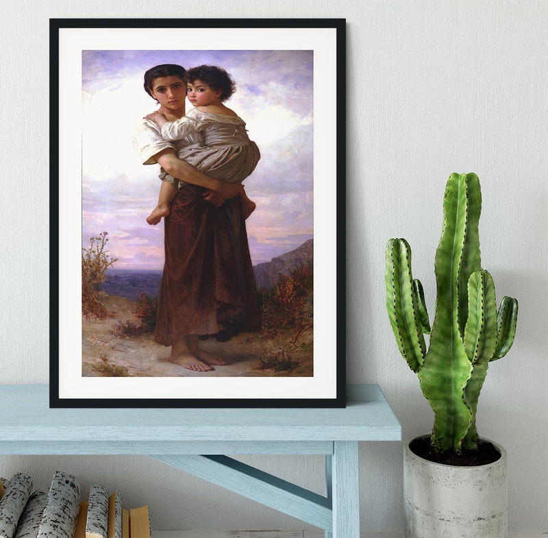 Young Gypsies By Bouguereau Framed Print - Canvas Art Rocks - 1