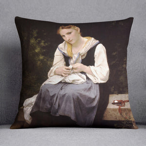 Young Worker By Bouguereau Cushion