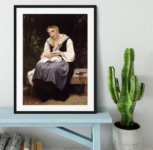 Young Worker By Bouguereau Framed Print - Canvas Art Rocks - 1