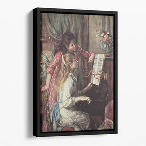 Young girls at the piano 2 by Renoir Floating Framed Canvas