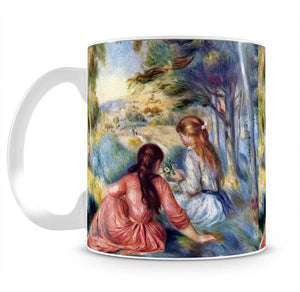 Young girls in the meadow by Renoir Mug - Canvas Art Rocks - 2
