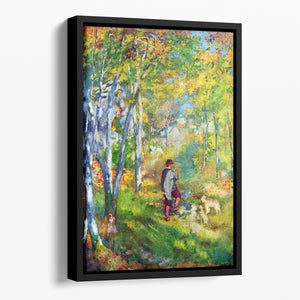 Young man in the forest of Fontainebleau by Renoir Floating Framed Canvas