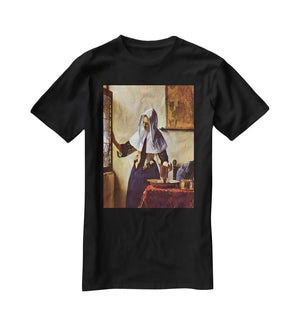 Young woman with a water jug at the window by Vermeer T-Shirt - Canvas Art Rocks - 1