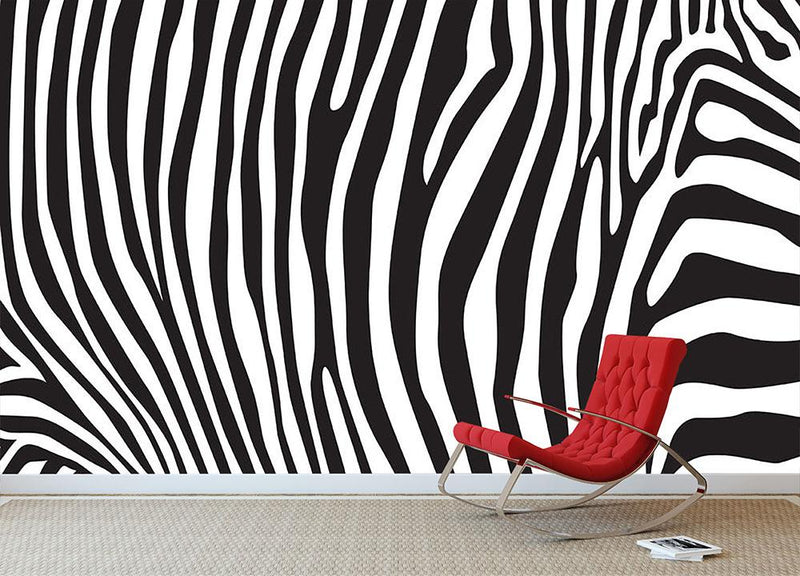Zebra stripes pattern Wall Mural Wallpaper - Canvas Art Rocks - 1