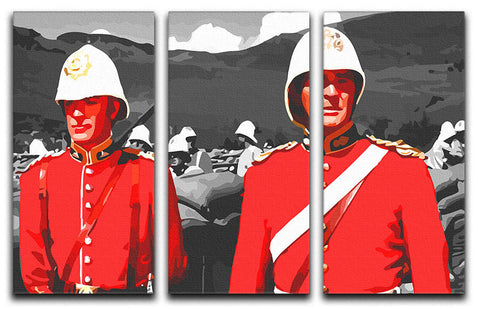 Zulu Soldiers 3 Split Panel Canvas Print