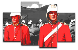 Zulu Soldiers 4 Split Panel Canvas  - Canvas Art Rocks - 1
