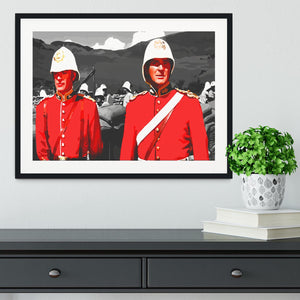 Zulu Soldiers Framed Print - Canvas Art Rocks - 1
