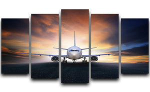 air plane preparing to take off 5 Split Panel Canvas  - Canvas Art Rocks - 1