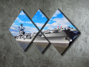 aircraft carriers built during World War II 4 Square Multi Panel Canvas  - Canvas Art Rocks - 2