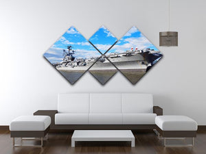 aircraft carriers built during World War II 4 Square Multi Panel Canvas  - Canvas Art Rocks - 3