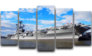 aircraft carriers built during World War II 5 Split Panel Canvas  - Canvas Art Rocks - 1