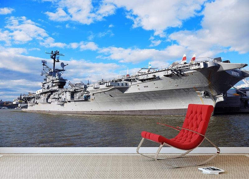 aircraft carriers built during World War II Wall Mural Wallpaper - Canvas Art Rocks - 1